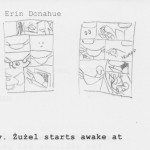 Sometimes I have to do quite a few thumbnails to work out the rhythm of a page.