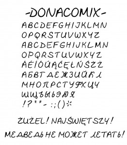 Donacomix Specimen Sheet