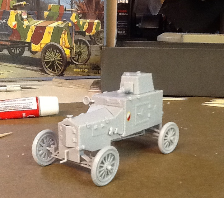 A model of the Ford FT-B I built, to begin my collection of reference materials